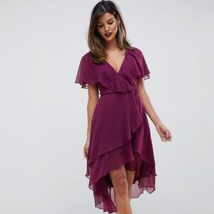 NWT ASOS Cape Back Midi Dress